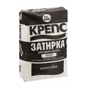 Затирка для швов Белая, КРЕПС 20 кг