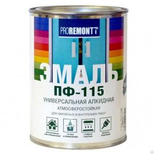 Эмаль ПФ-115 универсальная глянцевая, салатовая PROREMONTT Лакра 0,9кг