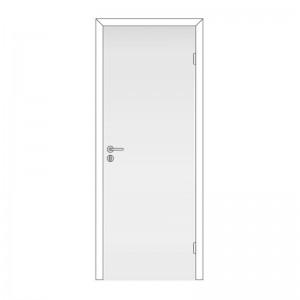 Дверь глухая (в комплекте) белая крашеная 800*2000 ГОСТ с замком 2014 Олови