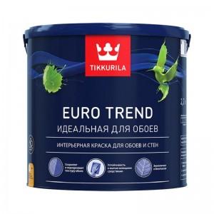 Интерьерная краска для обоев и стен Euro Trend матовая, база А Tikkurila, 2,7 л