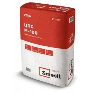 Цементно-песчаная смесь М-100 25кг, Smesit