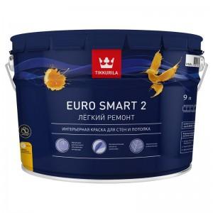 Интерьерная краска EURO SMART 2 глубокоматовая, база A Tikkurila 9л