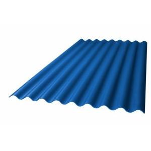 Профилированный поликарбонат волна 2000х1050х0,8мм (синий матовый) Юг-Ойл-Пласт