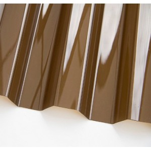 Профилированный поликарбонат трапеция 3000х1050х0,8мм (бронза коричневая прозрачная) Юг-Ойл-Пласт