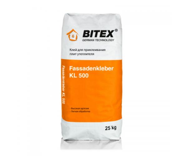 Клей для пенополистирола и утеплителя Bitex Fassadenkleber KL 500, 25 кг