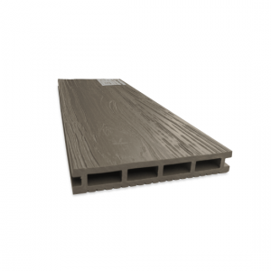 Террасная доска ДПК 140х22мм, 3D тиснение, Серый мох