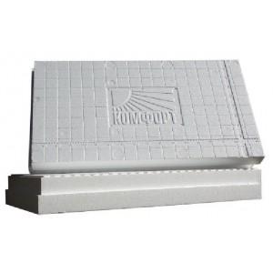 Теплоизоляционная полистирольная плита Комфорт (ППС15ТБ) 900х500х70мм
