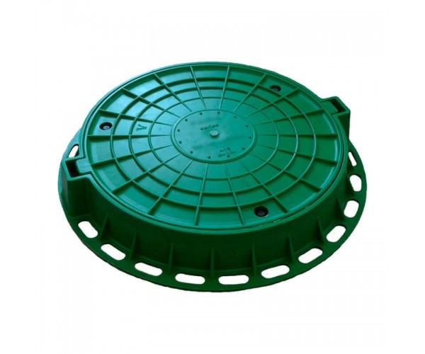 Люк садовый песчано-полимерный, зеленый, 3т