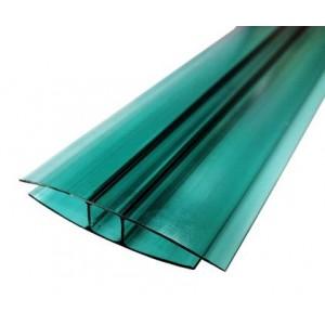 Профиль соединительный неразъемный НР 10мм Зеленый L=6м, Юг-Ойл-Пласт