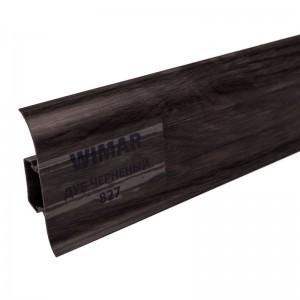 Плинтус с мягким краем и кабель-каналом (58 мм) Дуб Черненый 827 2,5м. Wimar