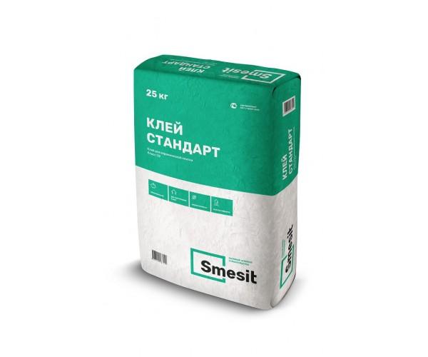 Клей для плитки Стандарт, 25кг, Smesit