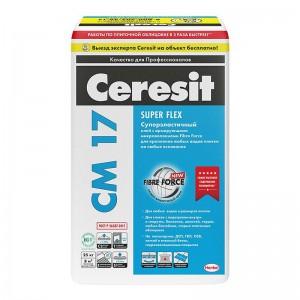 Клей для плитки СМ 17, 25кг CERESIT