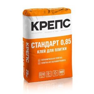 Клей для плитки Стандарт 0,85 , КРЕПС 25 кг