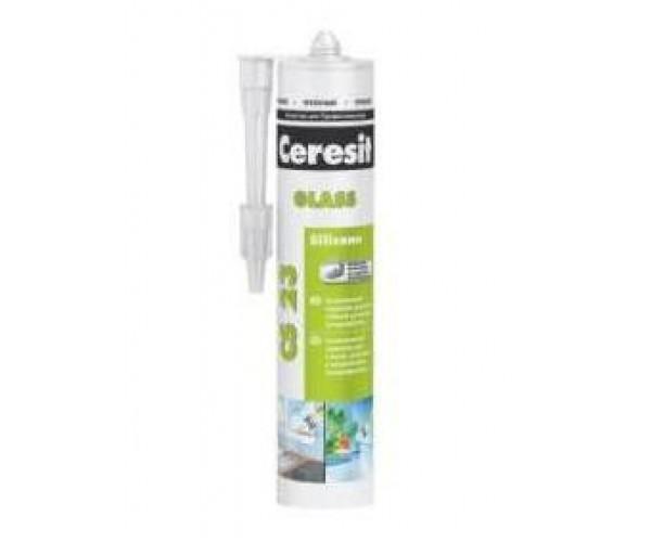Герметик силиконовый для стекла белый CS 23 Ceresit (280 мл)