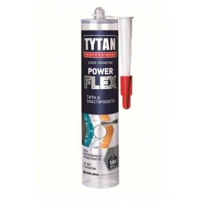 Клей-герметик универсальный Power Flex прозрачный Tytan Professional (290 мл)
