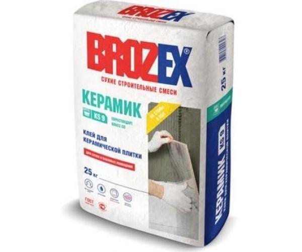 Клей для плитки KS 9 Керамик Brozex 25кг