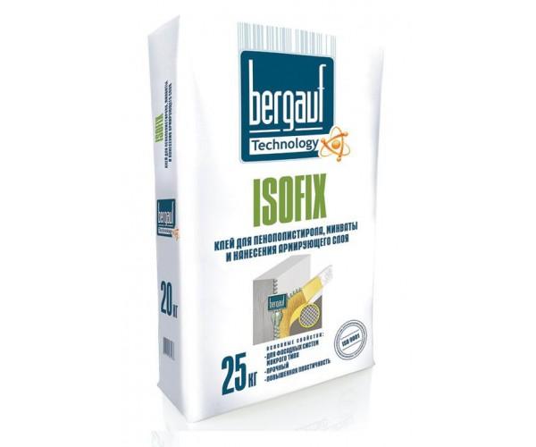 Клей для пенополистирола и минваты Isofix Bergauf, 25 кг