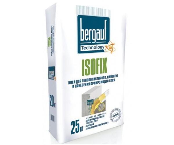 Клей для пенополистирола и минваты морозостойкий Isofix Winter Bergauf, 25 кг