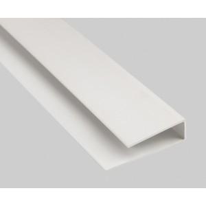 Стартовый профиль ПВХ П-образный 10мм белый 3м.