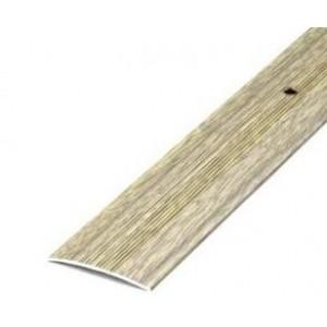 Порожек стыкоперекрывающий дуб беленый ПС-03 1350*37мм, ЛУКА