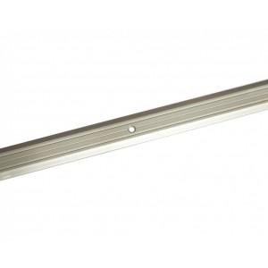 Порожек стыкоперекрывающий серебро люкс ПС-01 1350*25мм, ЛУКА