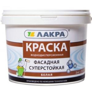 Краска фасадная белая ЛАКРА 14 кг