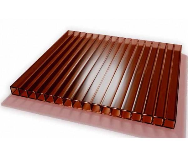 Поликарбонат 2100х6000х4мм (бронза коричневая) Соталайт