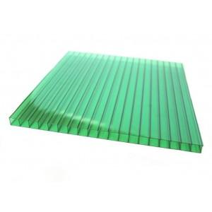 Поликарбонат 2100х6000х6мм (зеленый) Соталайт