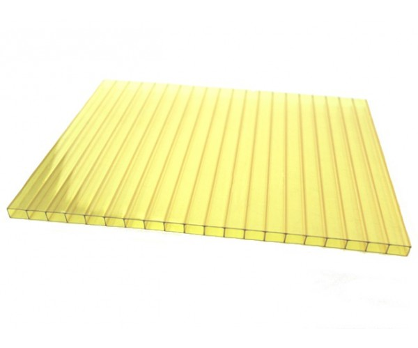 Поликарбонат 2100х6000х10мм (желтый) Соталайт