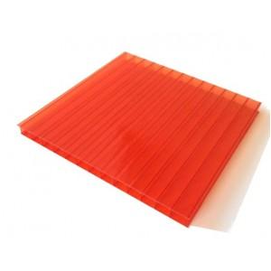 Поликарбонат 2100х6000х10мм (красный) Соталайт