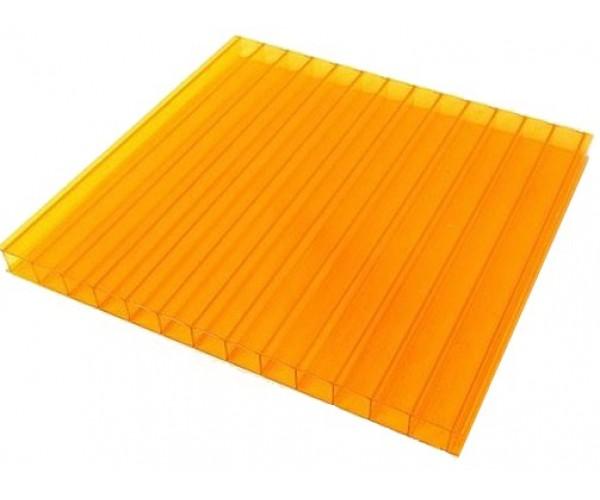 Поликарбонат 2100х6000х10мм (оранжевый) Соталайт