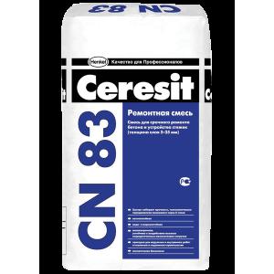 Смесь для срочного ремонта бетона CN 83, 25кг Ceresit
