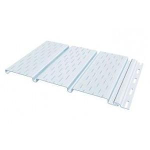 Софит с перфорацией всех листов для винилового сайдинга 3000*300мм, белый FineBer