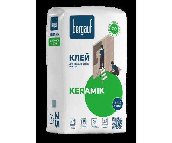 Клей для керамической и кафельной плитки Keramik, 25кг Bergauf